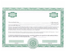 custom share certificates